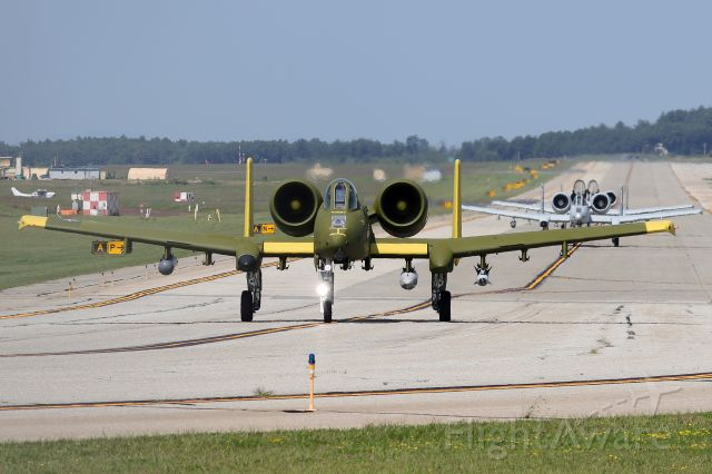 Fairchild-Republic Thunderbolt 2 (78-0693) - 'WARDOG' & 'RAVEN' flights taxiing for departure. The A-10s from the 104th FS have been here this week training with the KC-46s from the NH ANG  (8/25)