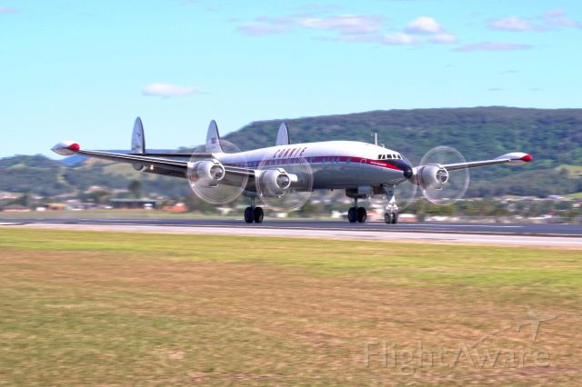 VH-EAG — - HARS Connie testing the new runway at Shellharbour airport 11 May 2020. This is one of the last Super Constellations still flying in the world.