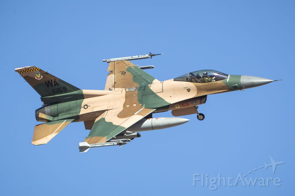 Lockheed F-16 Fighting Falcon (83-0159) - US Air Force F-16C (WA-83-0159) - 64th Aggressor Squadron<br />Red Flag 16-3 at Nellis Air Force Base