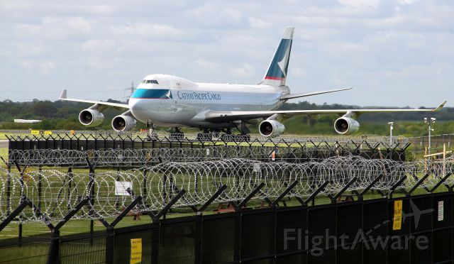 Boeing 747-400 (B-HUO) - Taken from the AVP at Manchester.