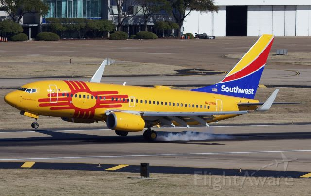 """Boeing 737-700 (N781WN) - New Mexico One arriving to Dallas Love Field (please view in """"full"""" for highest image quality)"""