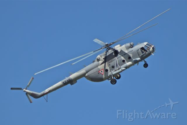 FAM1710 — - Armed Mexican Air Force Mil Mi-17 MTV-1 airframe 1710 on a military exercise in Santa Lucia Air Base.