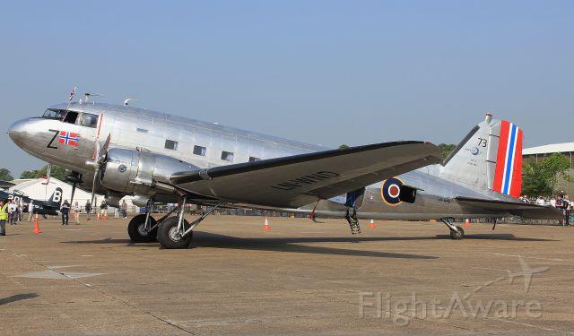 Douglas DC-3 (LN-WND) - Norwegian DC-3 LN-WND at Duxford Flying Legends air show