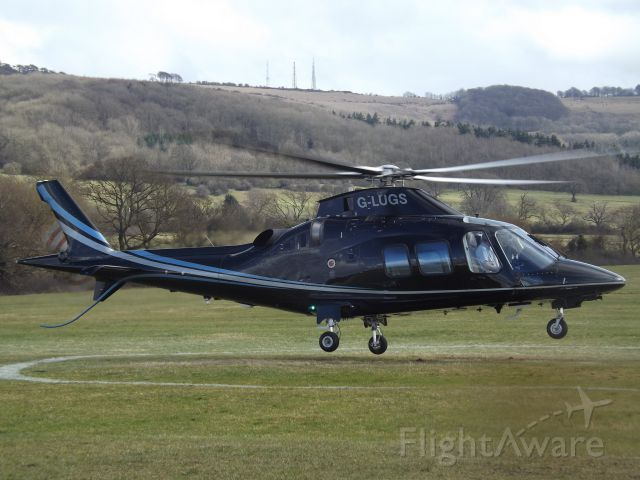 SABCA A-109 (G-LUGS) - At Cheltenham Helipad for the 2018 Gold cup.