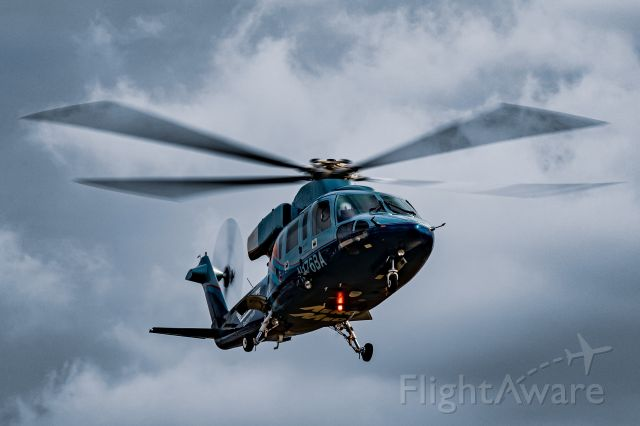 Sikorsky S-76 (N176BA) - AeroMed2 coming in to land at KGRR