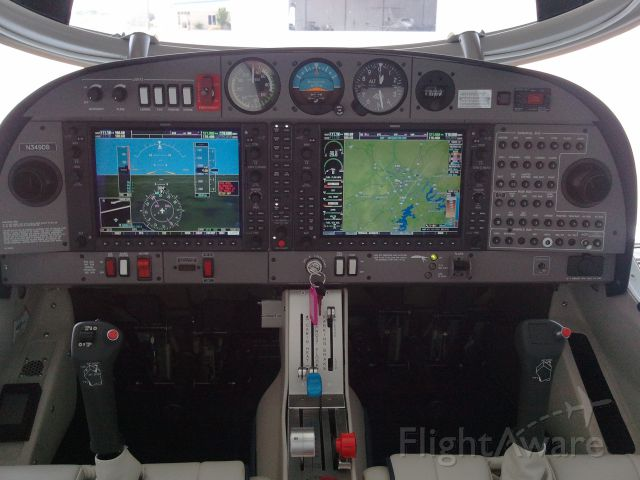Diamond Star (N349DS) - Panel view.  Engine is off and external power is applied.