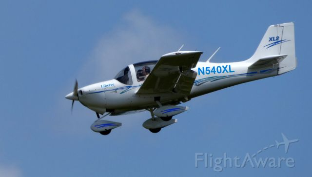 LIBERTY (2) XL-2 (N540XL) - On final is this 2006 Liberty Aerospace XL-2 in the Summer of 2019. This is a derivative of the Europa XS kit plane. This aircraft serves as a touring plane and as a flight trainer when needed.