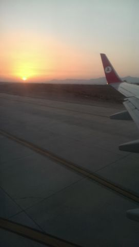 Boeing 737-700 (THY992) - Just after landing, Ercan airport.