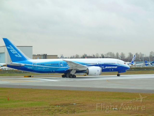 N787BA — - 1-29-2011 Boeing Dreamliner (Testing) 787-8, N787BA, ZA001 about to take off at Paine Field, Everett, Washington        Photo by Bruce McKinnon