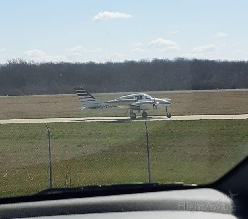 Cessna 310 (N9923F) - 11:12am 03/28/21. From the observation area.
