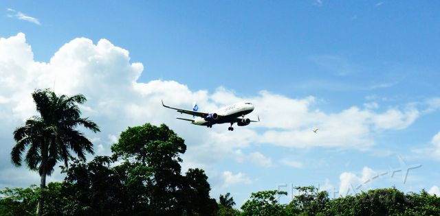 Airbus A320 (N827JB) - JETBLUE AIRWAYS A320 ON FINAL APPROACH AT MDPP AIRPORT!