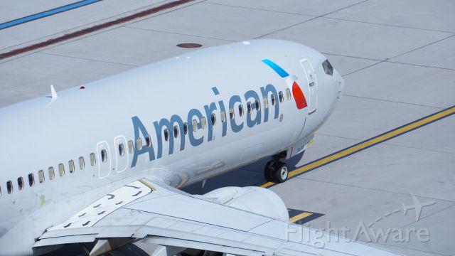 Boeing 737-800 (N948NN) - Top of T4 Parking Garage. Taken on April 11, 2021.