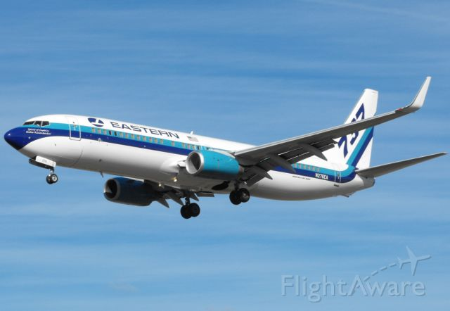 Boeing 737-800 (N276EA) - Eastern 944 on short final for RWY 27 in Tallahassee