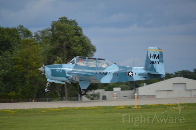 Beechcraft Mentor (N234MD) - Landing at Oshkosh 2013.