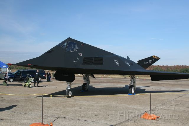 Lockheed Nighthawk — - F-117 of the Black Sheep Squadron at the KLRF Open House Air Show 11-4-2006