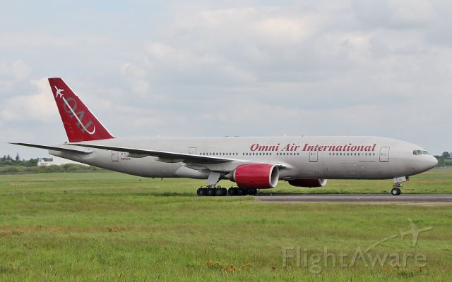 Boeing 777-200 (N819AX) - omni b777-2u8er n819ax arriving in shannon 18/5/18.