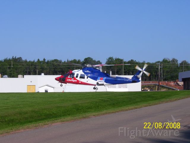 Sikorsky S-76 (C-GIMN) - CGIMN Medevac landing at the Queen Elizabeth Hospital, Charlottetown, PE