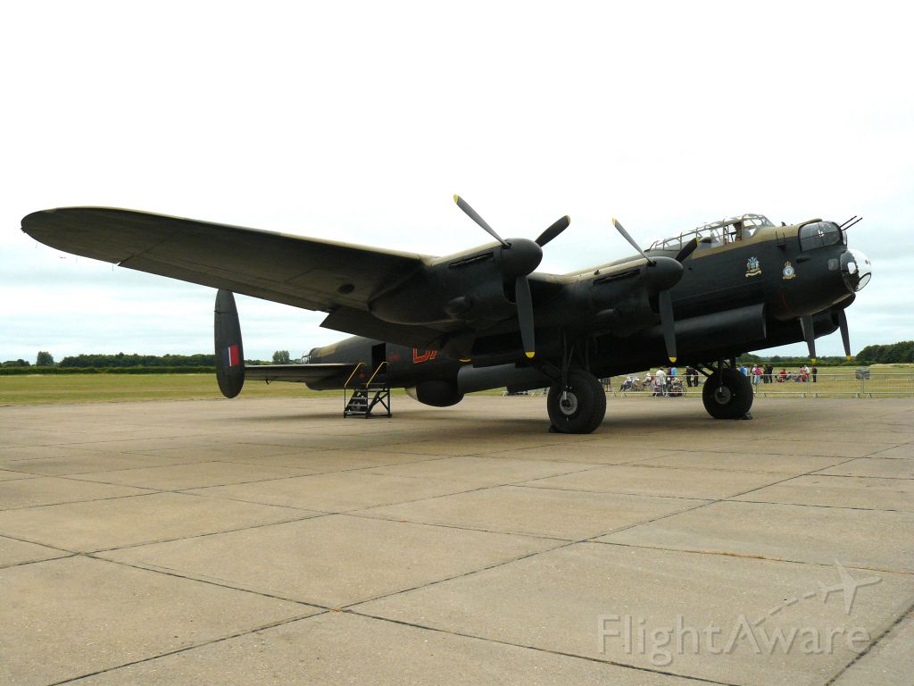 — — - Avro Lancaster at Lincolnshire Aviation Heritage Center, England. July 20th 2013