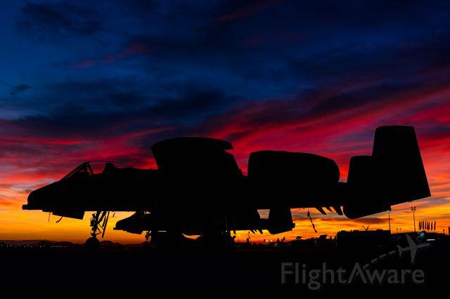 Fairchild-Republic Thunderbolt 2 — - On the ramp San Bernardino, CA.