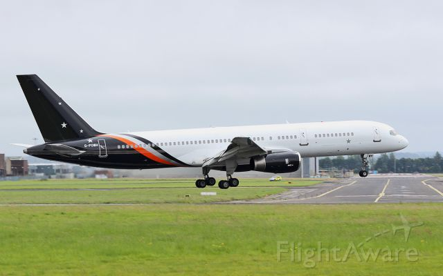 Boeing 757-200 (G-POWH) - titan airways b757-256 g-powh about to land at shannon from lourdes 1/7/17.