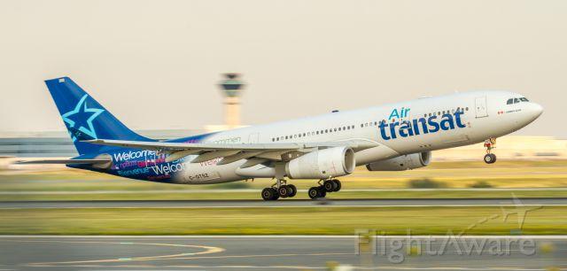 Airbus A330-200 (C-GTSZ) - Tried a panning shot. 1/60th second