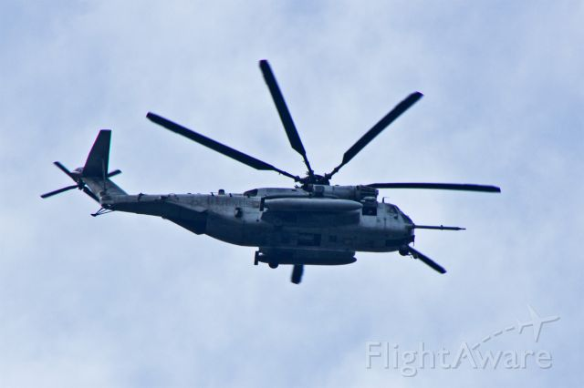 Sikorsky MH-53E Sea Dragon — - There was a major racket in the neighborhood this afternoon around 1433HrsEDT as two USMC Sikorsky Heavy Lift Helicopters passed overhead. 7 Blades in the main rotors make them S-80/CH-53E/MH-53E, right?