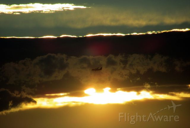 de Havilland Dash 8-300 (ZK-NEG) - Air New Zealand Q-300 on base with the setting sun and lively clouds to the west as it approaches Nelson NSN.