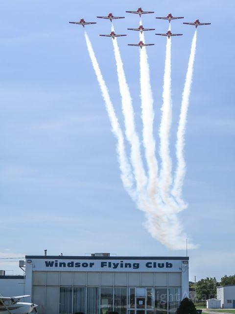 — — - Snowbirds over Windsor Flying Club