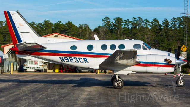 Beechcraft King Air 90 (N923CR) - Getting fueled up before heading back to Austin.