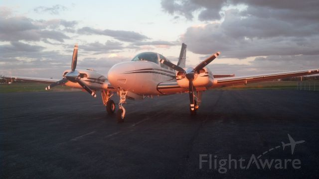 Beechcraft 55 Baron (N1832W) - Sunset at Allen County Airport, Lima, OH