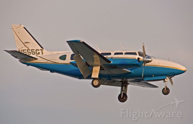 Piper Navajo (N555GT) - Sunset arrival highlighting this immaculate Piper Navajo -Kestral Aviation