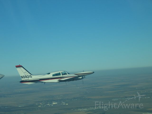 Cessna 310 (N68310) - Flying near Watertown South Dakota