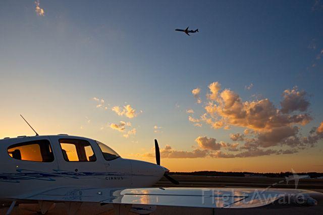 Cirrus SR-22 (N166SR) - Evening at the Hangar.