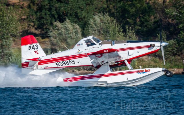 AIR TRACTOR Fire Boss (N398AS) - (AUGUST 2021) Fireboss 243 on the scoop at Silver Lake, WA