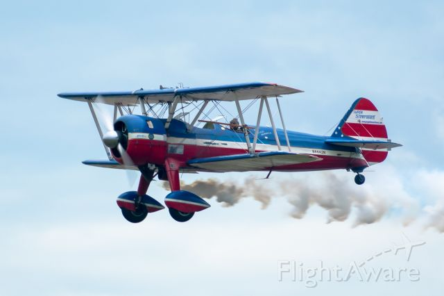 Boeing PT-17 Kaydet (N4442N) - Boeing-Stearman Model 75 PT-17, with a 450 HP Pratt & Whitney R-985 Wasp Junior fitted at the Heart of Texas Airshow in Waco, April 7th 2019.