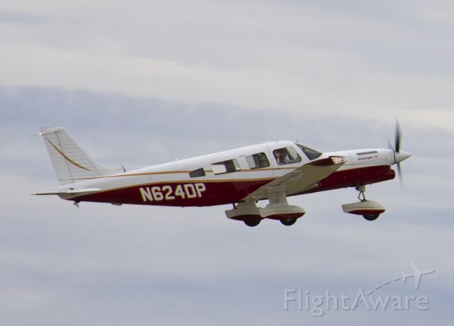 Piper Saratoga (N624DP) - Piper Saratoga N624DP taking off at Easterwood Field, College Station, Texas. Photo captured by my son, Andrew Hamons.