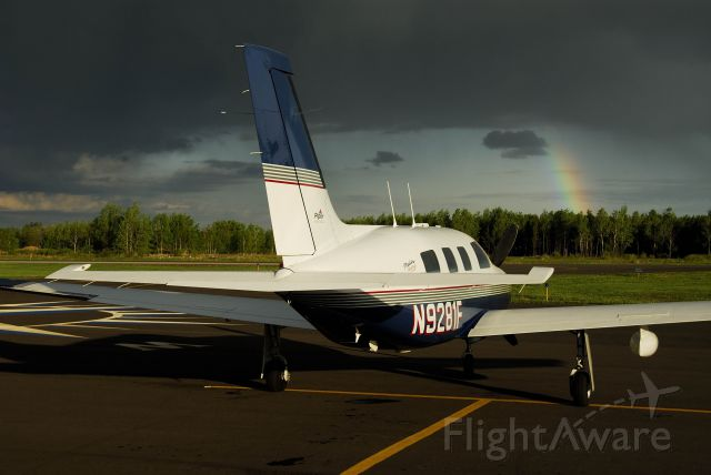 Piper Malibu Mirage (N9281F) - Orr, MN watching a thunder storm approach just after landing.