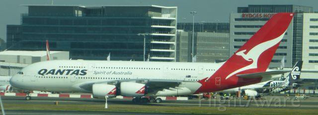 Airbus A380-800 (VH-OQE) - Qantas A380 (VH-OQE) on taxi at Sydney airport.