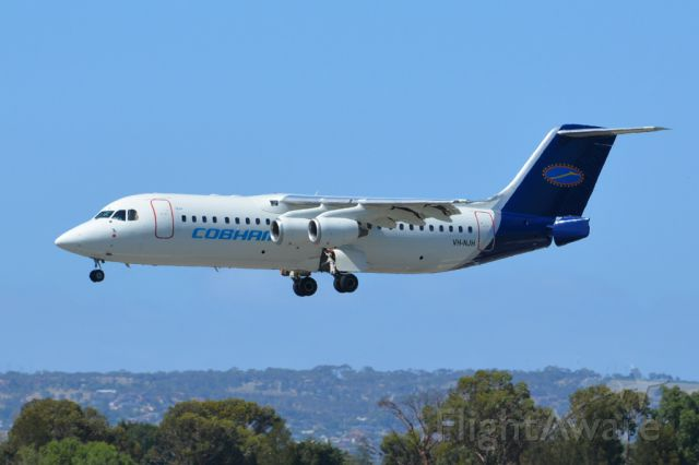 British Aerospace BAe-146-200 (VH-NJH) - On short finals for runway 05. Thursday 6th March, 2014.