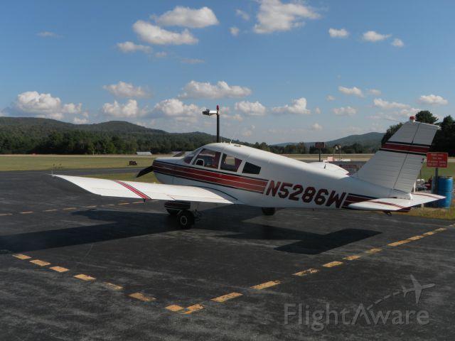 Piper Cherokee (N5286W) - Leo Monea's Cherokee at Springfield Airport, VT, September, 2011.