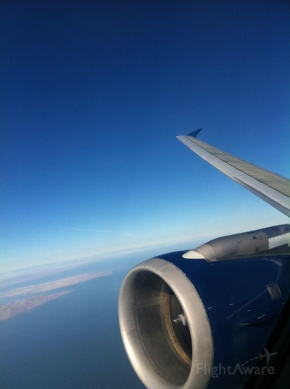 Airbus A320 — - Climbing out of SLC on our way home to LAS
