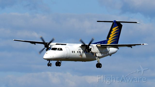 de Havilland Dash 8-100 (VH-XFT) - De Havilland Canada Dash 8-100. Skippers Aviation VH-XFT final runway 03 YPPH 310719.
