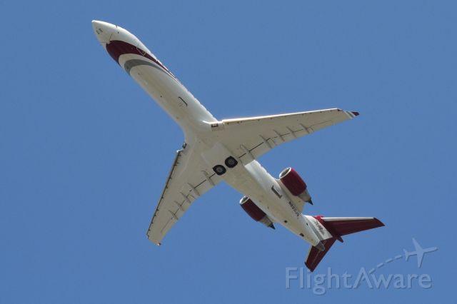 Canadair Regional Jet CRJ-700 (N520JG) - JOE GIBBS RACING departing KJQF for the race in Richmond - 9/22/18