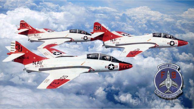 Grumman F9F Panther (3K400) - Grumman TF-9J Cougar
