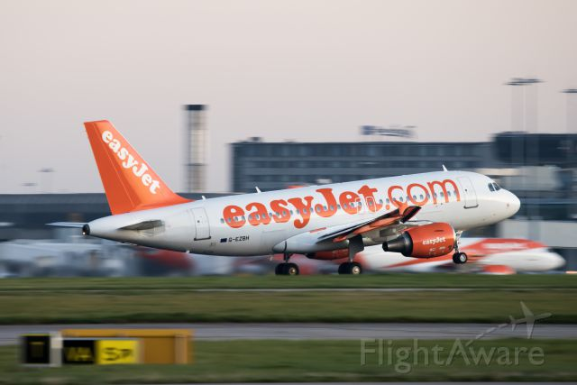 Airbus A320 (G-EZBH) - Easy jet departure from MAN in the morning-19.9.21