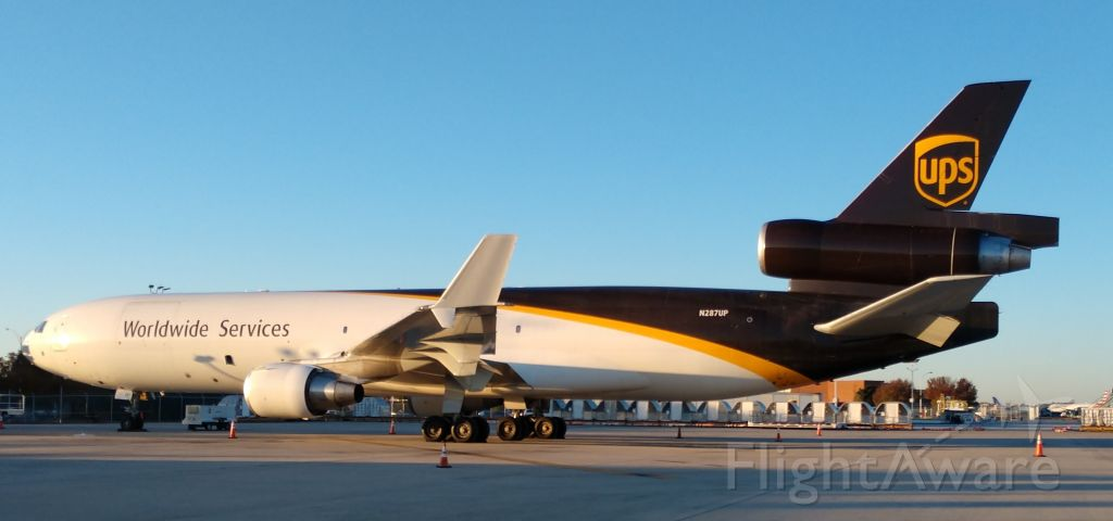 Boeing MD-11 (N287UP) - UPS with some bigger metal in CLT, Love it!<br /><br />11/17/18
