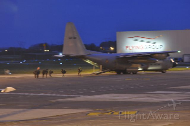 Lockheed C-130 Hercules (BMJ08) - search and rescue operation excercise in Antwerp.