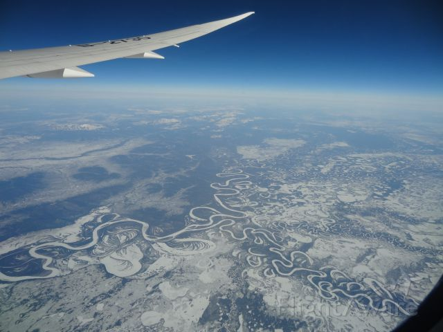 Boeing 787-8 (B-2730) - 787 somewhere over Alaska