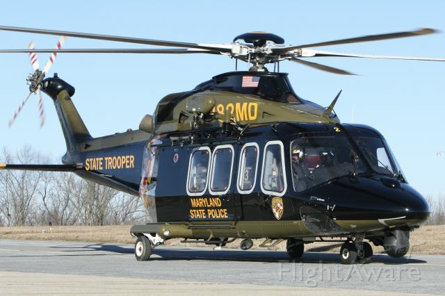 BELL-AGUSTA AB-139 (N382MD) - January 28, 2021 - returned to base 3 in Frederick