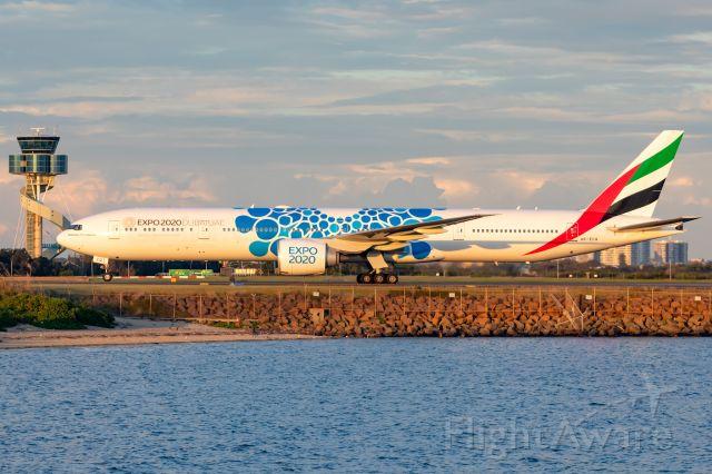BOEING 777-300 (A6-ECQ) - Expo 2020 Dubai Livery. EK416/UAE416 fr. DXB Dubai.  14/04/2019